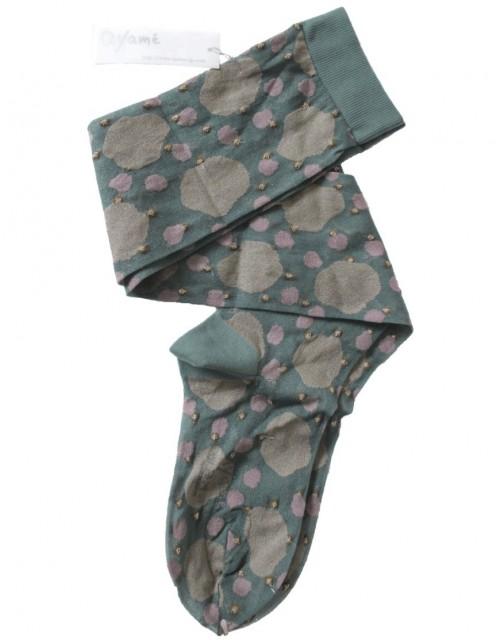 Ayame Socks Grey-Green