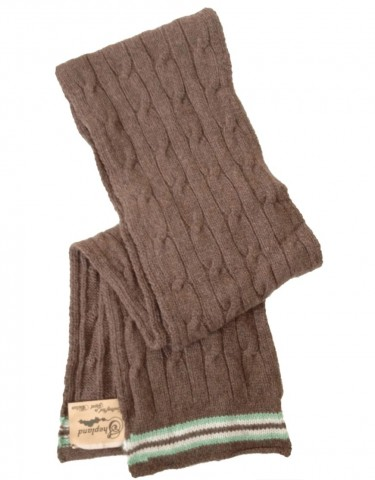 Shepland Cricket Scarf Brown